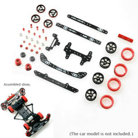1 Set S1/S2/FM/SFM/FMA Chassis Modify Spare Parts Set Guide Rollers Carbon Fiber Plates Wheels for Tamiya Mini 4WD Car Model