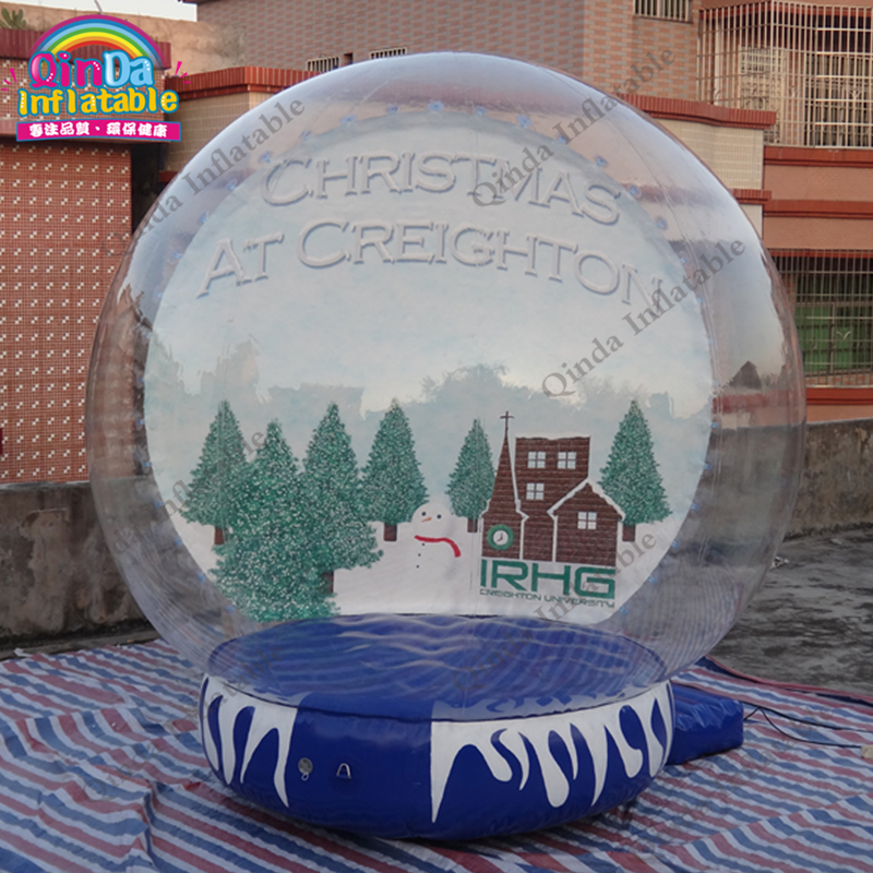 Inflatable Snow Globe For Christmas Decorations,Bubble Photo Booth Dome Tent 3m diameter empty inflatable snow ball for advertisement christmas decorations giant inflatable snow globe