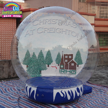 Inflatable Snow Globe For Christmas Decorations Bubble Photo Booth Dome Tent