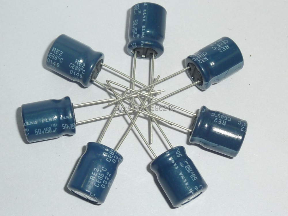 50pcs 150uF 50V Japan ELNA RE2 10x12.5mm 50V150uF Audio Capacitor