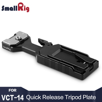 Smallrig VCT 14 Quick Release Tripod Plate With 1/4 3/8 Thread Holes for Camera Camcorder 2169