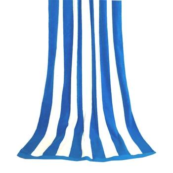 Beach Towel  Bath Towel Cotton Blue and White Stripe Thickened  Super Absorbent 90x180cm Sea Beach Gift Bath Outdoor Travel