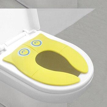 Kid Folding Potty Seat Pad Baby Toddler Travel Portable Toilet Training Seat Cover Cushion Cartoon Children Toilet Seat Hot Sale