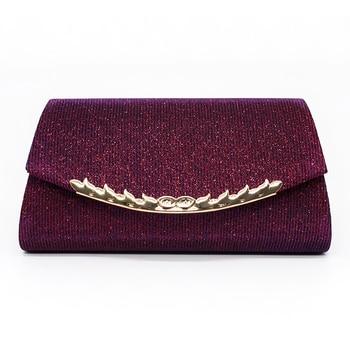 Glitter Clutch Bag Luxury Evening Women Handbag Wedding  Party Banquet Shoulder Bag