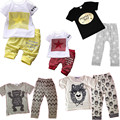 Summer baby boy girl clothes set cotton Fashion letters stars printed T-shirt+pants 2pcs baby clothes newborn baby clothing set