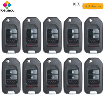 KEYECU 10PCS/Lot Replacement Universal Remote B-Series for KD900 KD900+ URG200, KEYDIY Remote Key With 3 Btns - FOB for B10-2+1