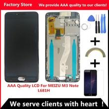 AAA kalite LCD + çerçeve MEIZU M3 not L681H Lcd yedek parça ekran MEIZU M3 not l681H meclisi