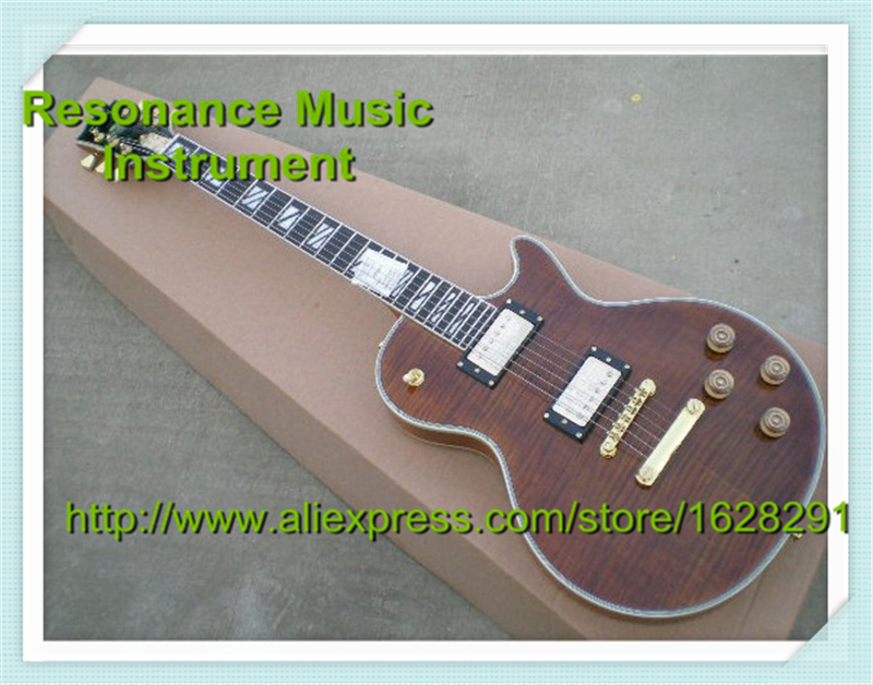 High-quality Musical Instrument Brown Tiger Grain Classical LP Supreme Electric Guitars Custom Left Handed Available In Stock high quality musical instrument cherry sunburst classical hollow guitar body es jazz guitars china lefty available