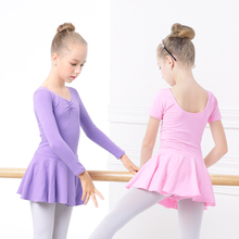 Kids Leotards Gymnastics Toddler Ballet Leotard Cotton Short Dress Dance Skirt Girls