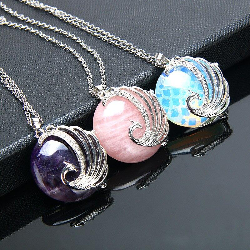 collier femme pendentif pierre