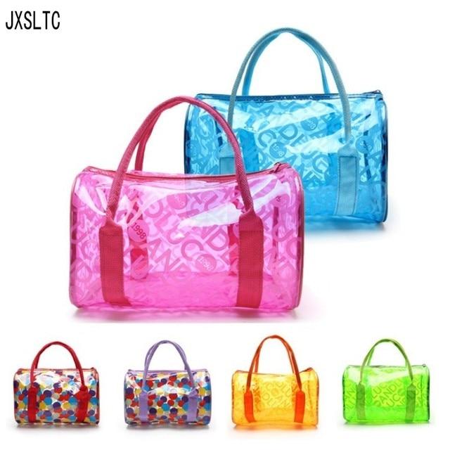 Fashion Transpa Cosmetic Bag Handbags Beach Clothing Organizer Storage Pouch Women S Makeup Kit Travel Bags
