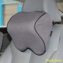 L1 pcs encosto de cabeça Do Carro Pescoço Travesseiro auto Espuma da Memória Almofada De algodão Tampa de Assento para Apoio de Cabeça resto Viagem Tecido Macio escritório em casa