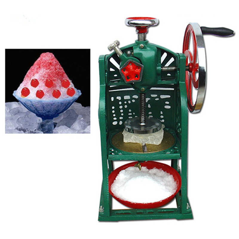 Manual ice shaving machine ice block crushing machine hot sale wholesale ice crusher edtid new high quality small commercial ice machine household ice machine tea milk shop