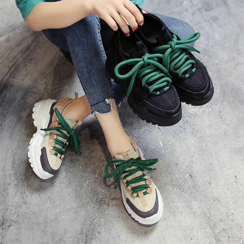 b4d760e8f58 Moxxy Women Sneakers Women Dad Shoes Woman Trainers Platform Ladies Baskets  Femme Zapatillas Mujer Casual Shoes 2019 Spring
