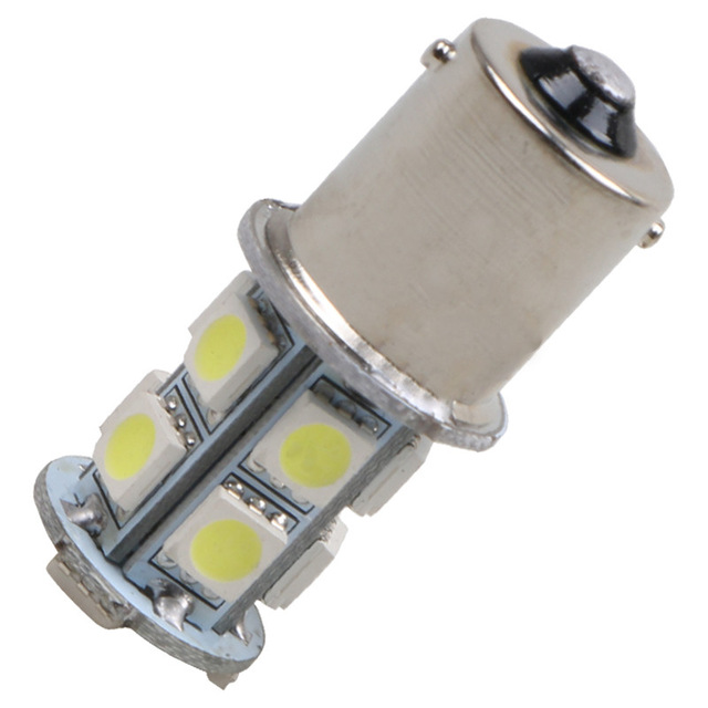 цена на 1156 BA15S led 13 SMD r5w Light Tail Brake Turn Signal s25 ba15s p21w LED Car 12V led Bulbs Lamp parking car light source white