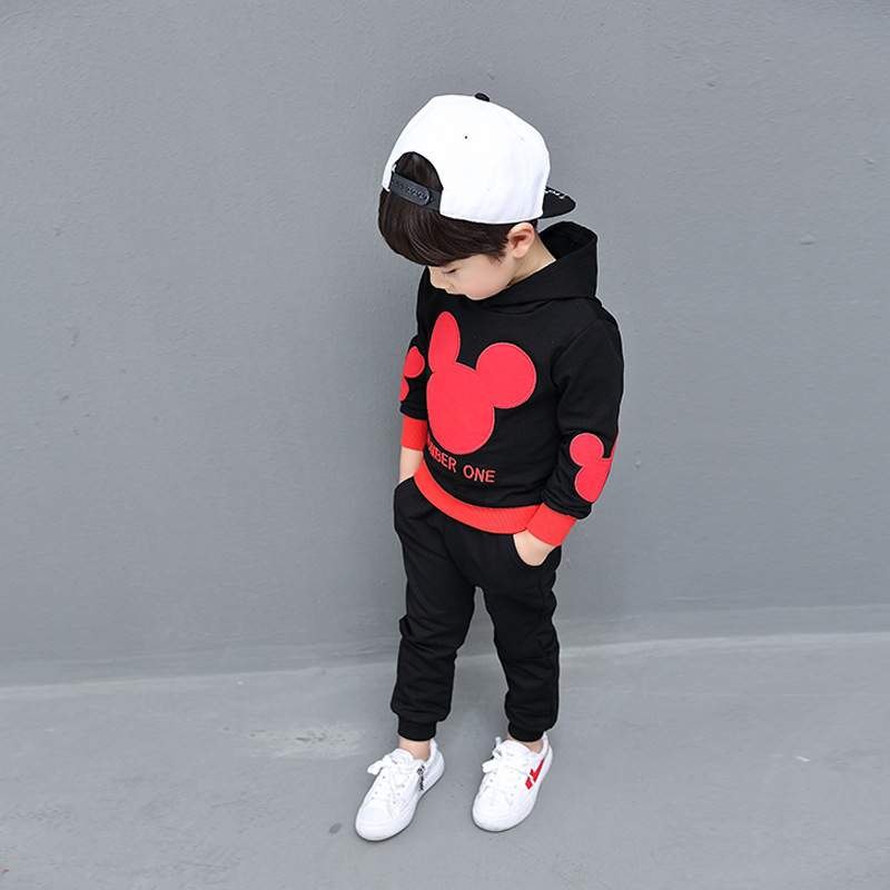 Toddler Boy Girl Clothing Set Autumn 2018 Baby Kids Minnie Mouse Clothes Casual Sport Suits Children Tracksuit Conjunto Infantil