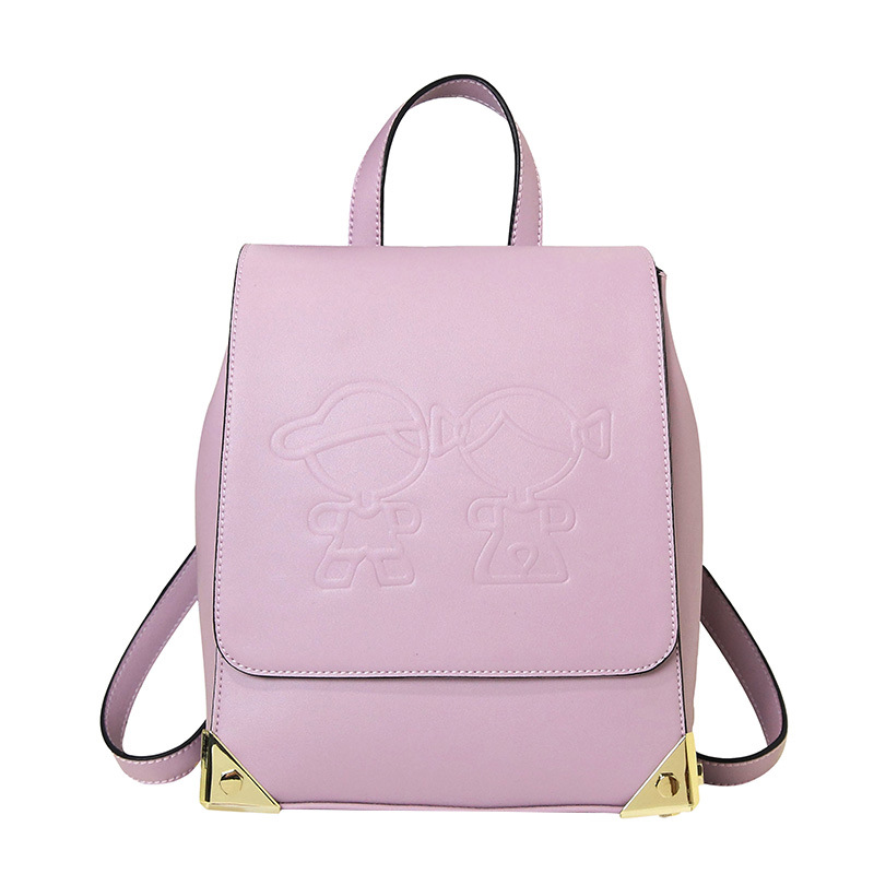 ФОТО New Women Backpack Female PU Leather Women's Backpacks Girls Bags Retro Lady School Street Bags