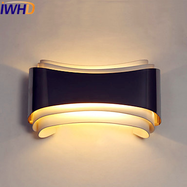 IWHD Ambient Modern Wall Light LED Living Room Luminaire Beside Wall Lights Fixtures Sconce Arandela Appliques Pared iwhd modern crystal led wall light fixtures bedroom beside lamp cristal led wall lights for home sconce arandela luminaire