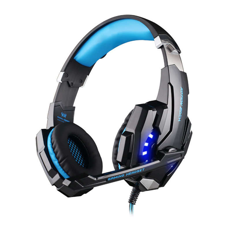 ФОТО Professional EACH G9000 Gaming Headset with Microphone 3.5 mm USB for Playstation PS4 PC Over-ear Pads Big Headphones Headband