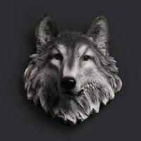 Волчья Голова украшение для стен висит стены головой животного смола подвеска Смола стены Украшения дома Интимные аксессуары, Best подарок