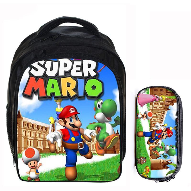 13 Zoll Super Mario Bros Sonic Boom Jungen Mädchen Schule Rucksäcke Kinder Rucksack Kinder Cartoon Taschen Mochila Bleistift Tasche Sets Taille Und Sehnen StäRken