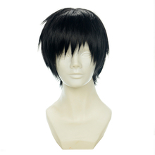 Brdwn YURI!!! on ICE Yuri Katsuki 33cm/13 Short Black Straight Cosplay Hairwear
