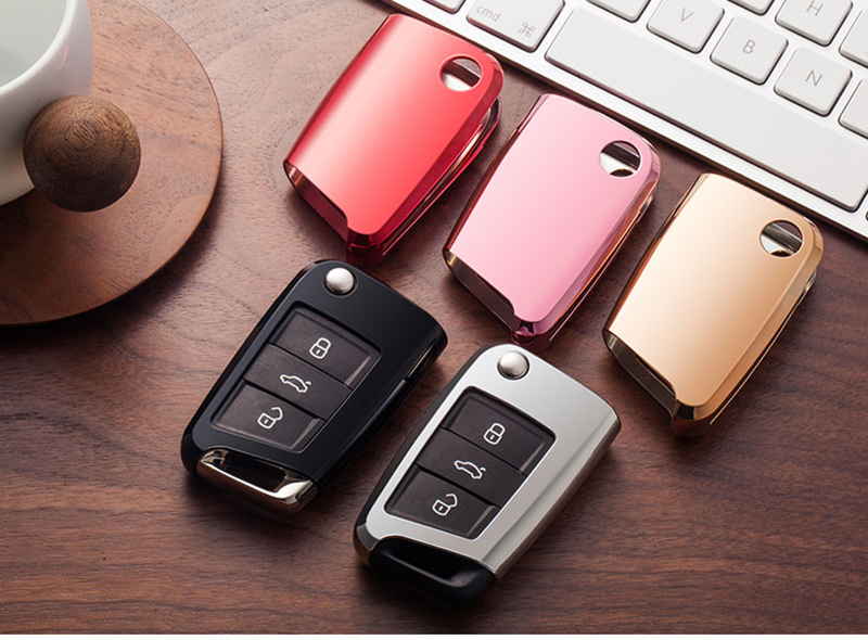 Soft TPU Protection key Case Cover for VW Volkwagen TIGUAN L Golf GTE 2017 Skoda Octavia car Styling Key Rings Shell Case