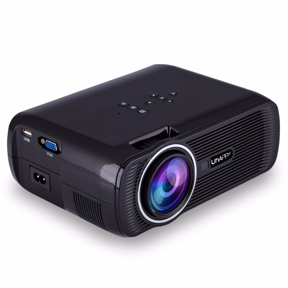New U80 Mini Projector 2000 Lumens HDMI LCD Home Theater Beamer LED Uhappy Proyector Support Full UHD 1080p Video Media player