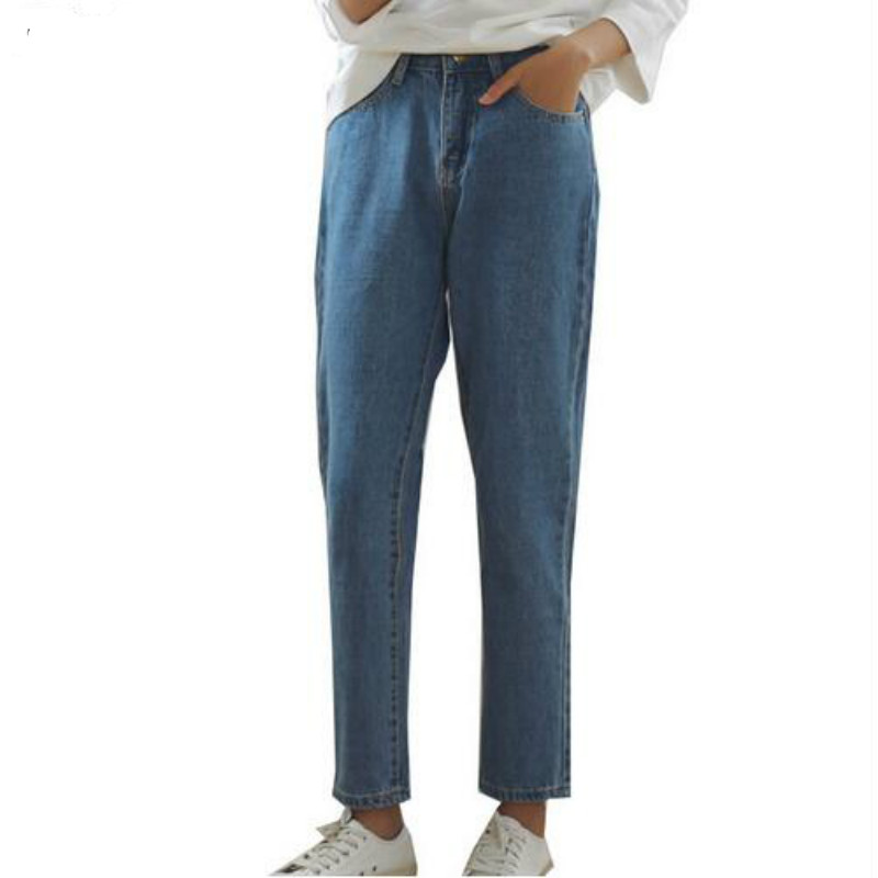 Plus Size High Waist Denim Shorts For Women Casual Blue Cotton Short Jeans 2017 Summer Design Femme Short Trousers 2 Colors  women s floral embroidery denim shorts 2017 summer fashion hight waist short jeans femme cotton shorts plus size xl e984