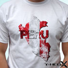 Peru flag - white t ...