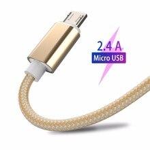 מיקרו USB כבל משלוח קלוע אנדרואיד מהיר טעינה תואם כבל נתונים עבור Xiaomi Redmi הערה 5 בתוספת 4x עבור Huawei עבור Samsung