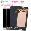 For Samsung For Galaxy J3 J320 LCD Display With Touch Screen Digitizer Assembly Blue White Gold + Free Shipping