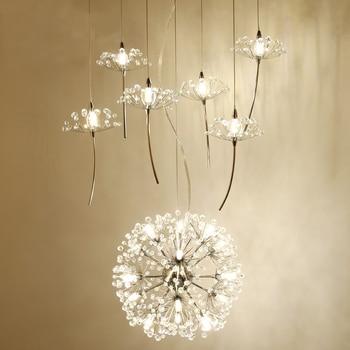 แฟนซีออกแบบโคมไฟระย้าคริสตัลโมเดิร์นไฟ LED สำหรับห้องรับประทานอาหารห้องรับแขกโคมไฟ