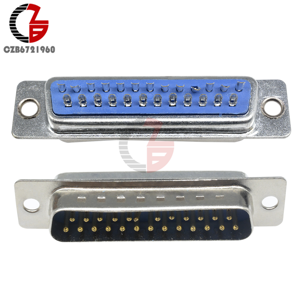 D-SUB DB25 Male Connector Serial Cable Extended Adapter 25 Pin DB25F Male Converter DB25D-SUB DB25 Male Connector Serial Cable Extended Adapter 25 Pin DB25F Male Converter DB25