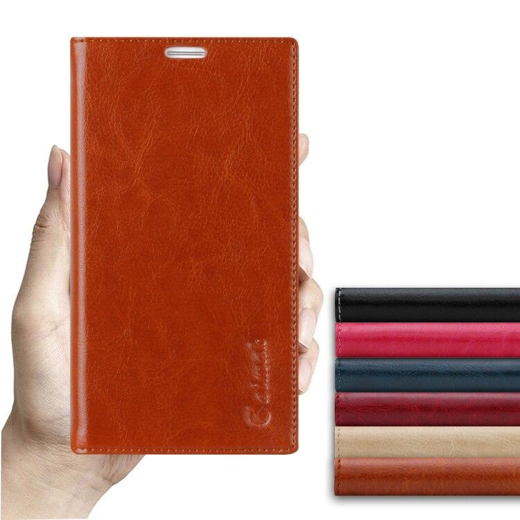 imágenes para Lechón Funda Para El Nokia Lumia 730 735 N735 N730 Alta calidad de Lujo Del Tirón Del Cuero Genuino Del Soporte Del Teléfono Móvil Bag + free regalo