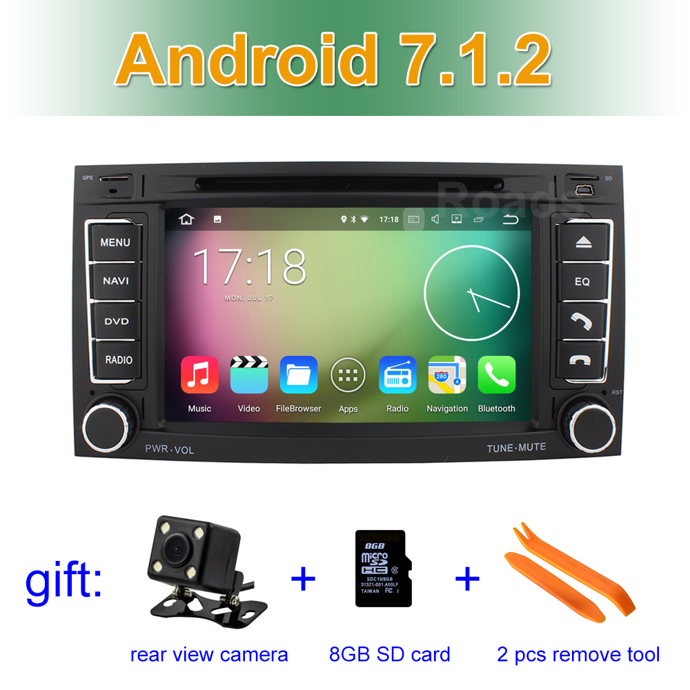 Android 7 1 Car DVD Player for VW T5 Transporter Multivan Touareg 2004 2011 GPS System