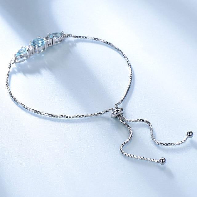 Pierres Topaze Bleu Bracelet