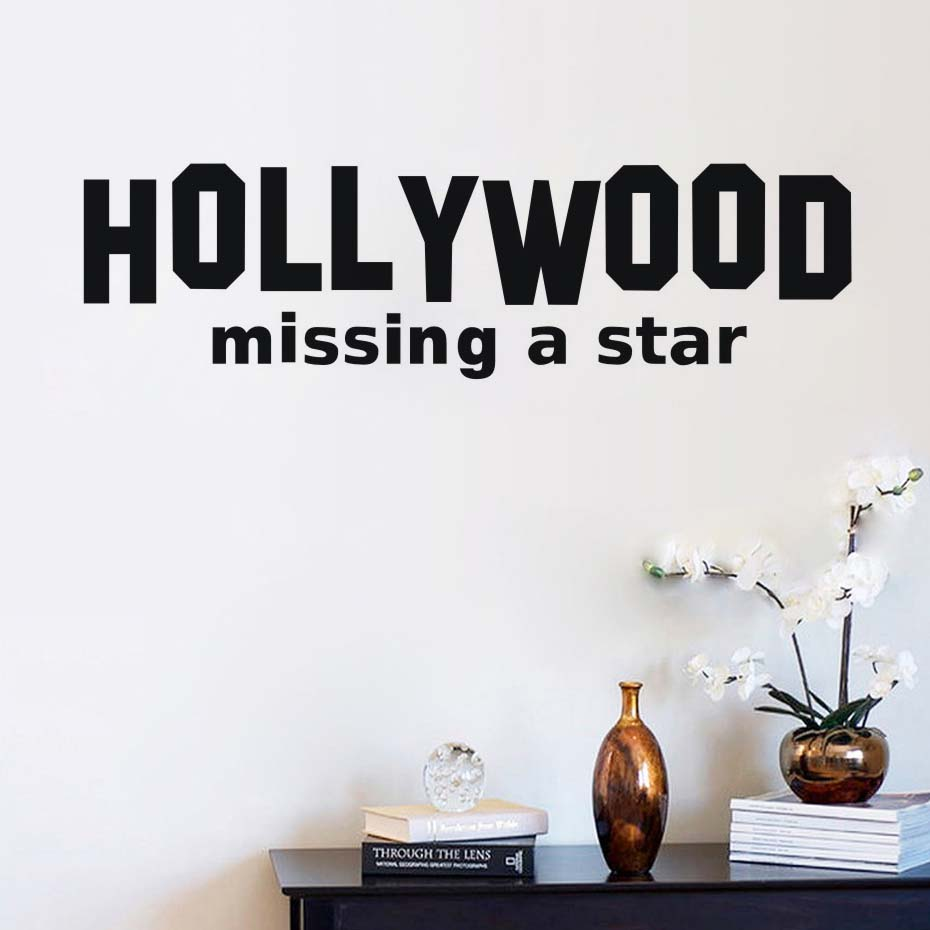 ᐃhollywood Missing A Star Wall Sticker Quotes Wall Decals Self