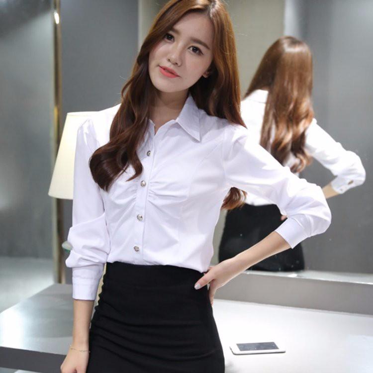 HTB1yCkALXXXXXXTXFXXq6xXFXXXR - Casual Blouse Long Sleeve Femininas Ladies Work Wear Tops Shirt