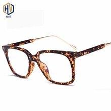 Fashion New Men Square Prescription Glasses Frame Women Retro Leopard Big Spectacles Frames Optics Eyeglasses