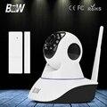 BW Câmera HD 720 P IP Inteligente P2P Cam Vigilância CCTV Início Aplicativo de Telefone + Sensor de Porta de segurança de Rede Sem Fio Wi-fi Monitor Do Bebê