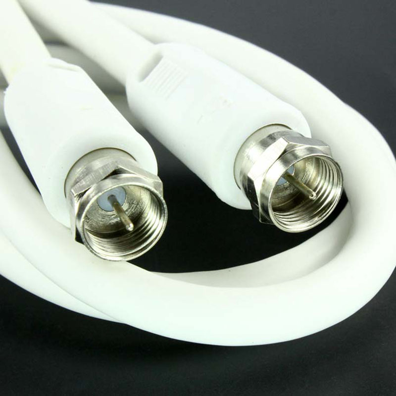 Double metric f head of closed-circuit television (CCTV) line 1.5 meters of rf signal TV cable TV