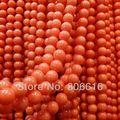 """Aa grado 9.5 MM 78 unids """" naranja rosa """" Natural Coral grano flojo Strand granos de la joyería accesorios de los resultados"""
