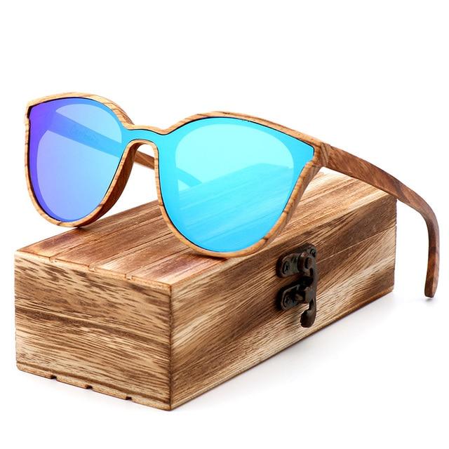 luxury Fashion Polarized Lady Cat Eye Sunglasses Wood Handmade Glasses Ladies Christmas Gifts With Bamboo Box Dama gafas de sol
