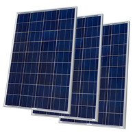 300w 12V Poly Solar Panel Kit Advanced RV Solar Kit 3pcs 100w Solar Panel For Off