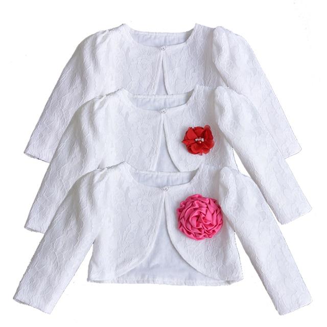 986a73e45ff8 New Born Baby Girls Lace Coat Princess Shrug Short Cardigan Toddlers ...