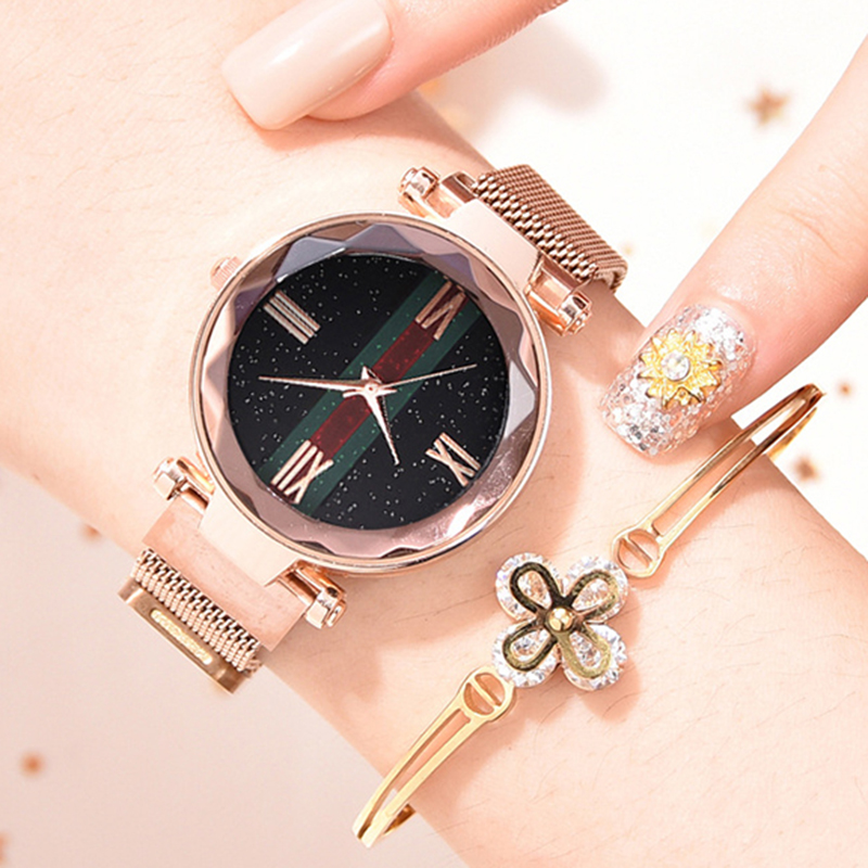 luxury-rose-gold-women-watch-magnet-starry-sky-wrist-watch-for-ladies-female-wristwatch-waterproof-reloj-mujer-relogio-feminino