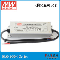 Original MEAN WELL ELG 100 C1400A constant current LED driver 1400mA 35 ~ 72V 100W PFC meanwell power supply ELG 100 C