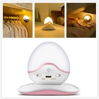 Amagle USB Rechargeable Roly Poly Night Light Magnetic Wall Lamp Infrared PIR Motion Activated Sensor Closet
