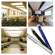 OOTDTY Promotion 5mW 650nm Lamp 3 Color Red Laser Pointer Pen Beam Presentation Powerpoint Presenter 2 AAA Battery(China)